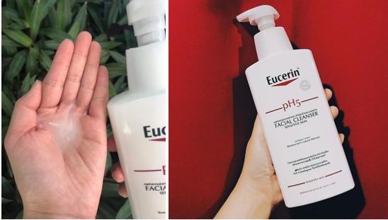 sửa rửa mặt eucerin