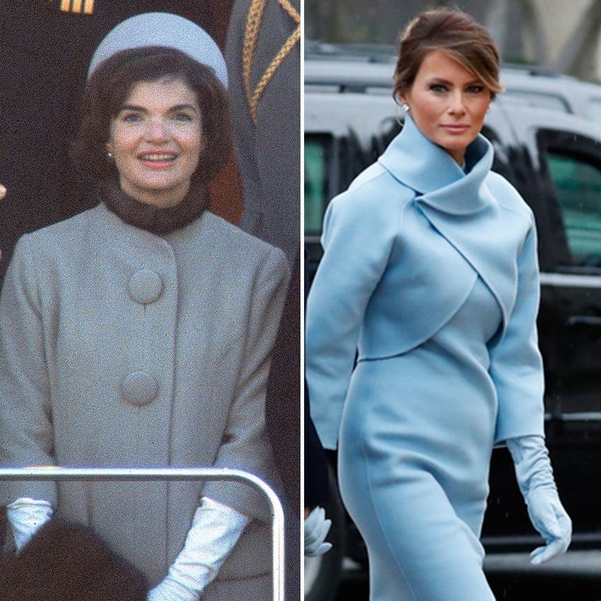 Trang phục màu xanh của Jackie Kennedy và Melania Trump