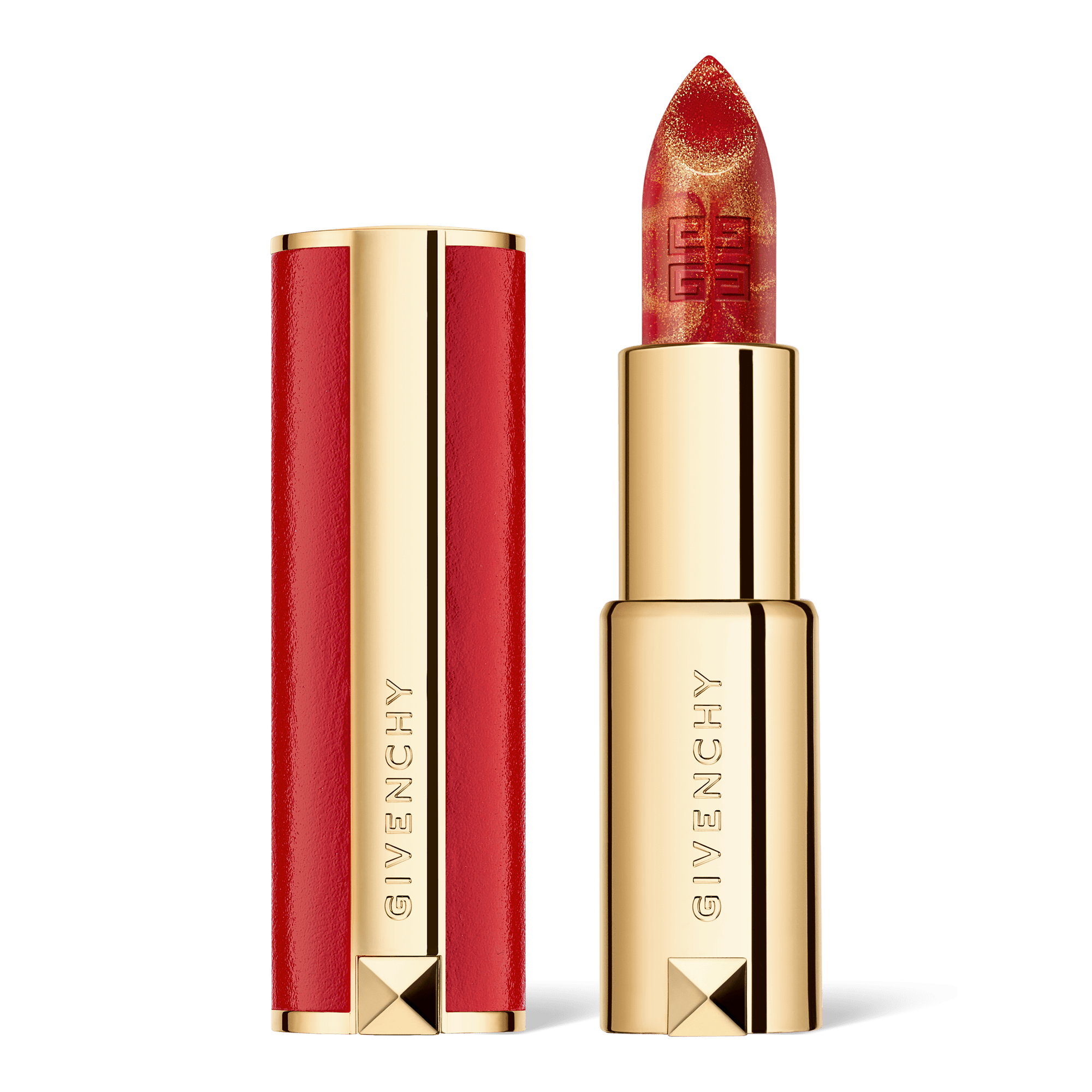 Givenchy CNY 2021 Le Rouge Marble Edition Lipstick, 888 Golden Red