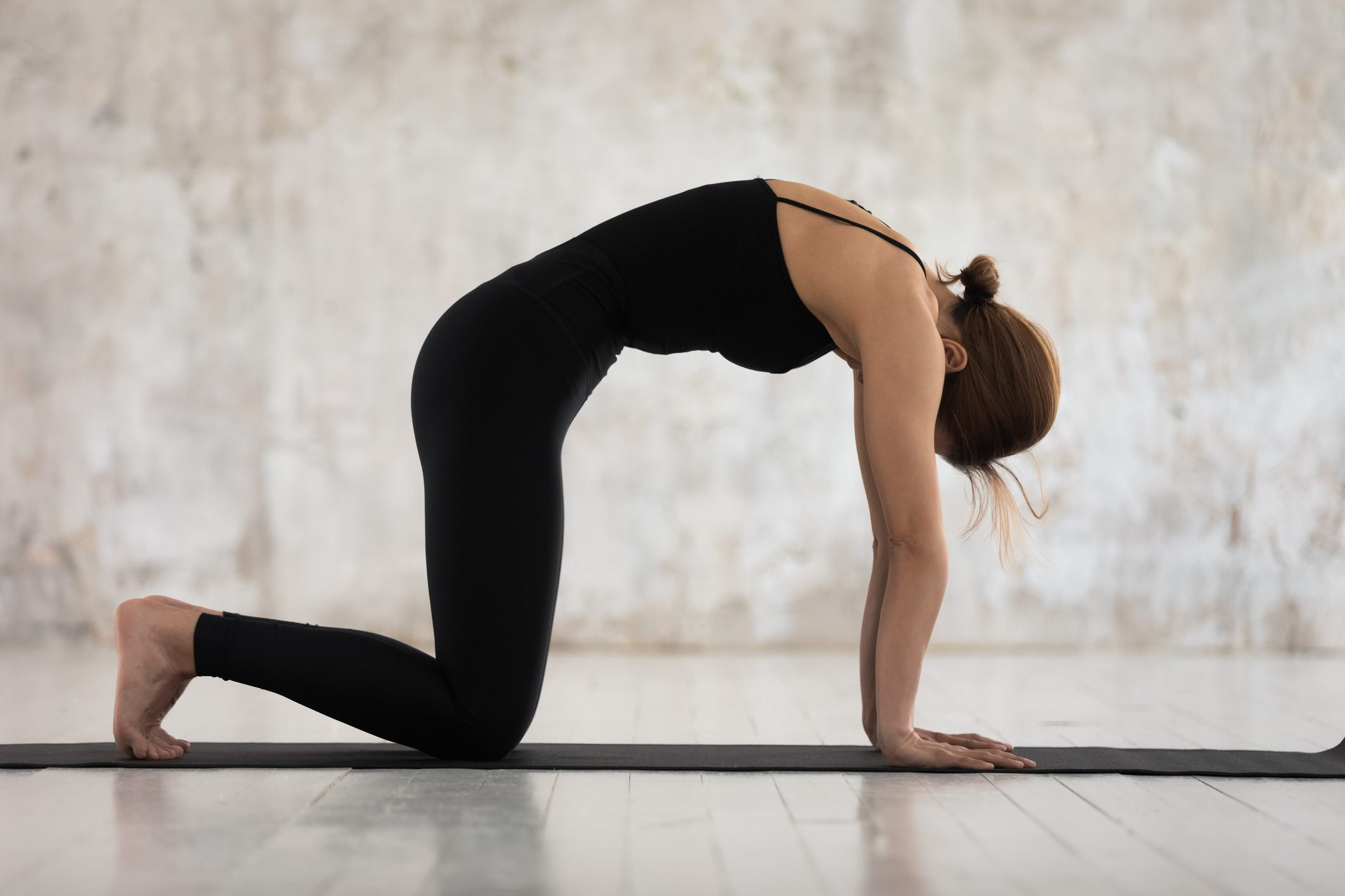 Tập yoga tư thế con mèo
