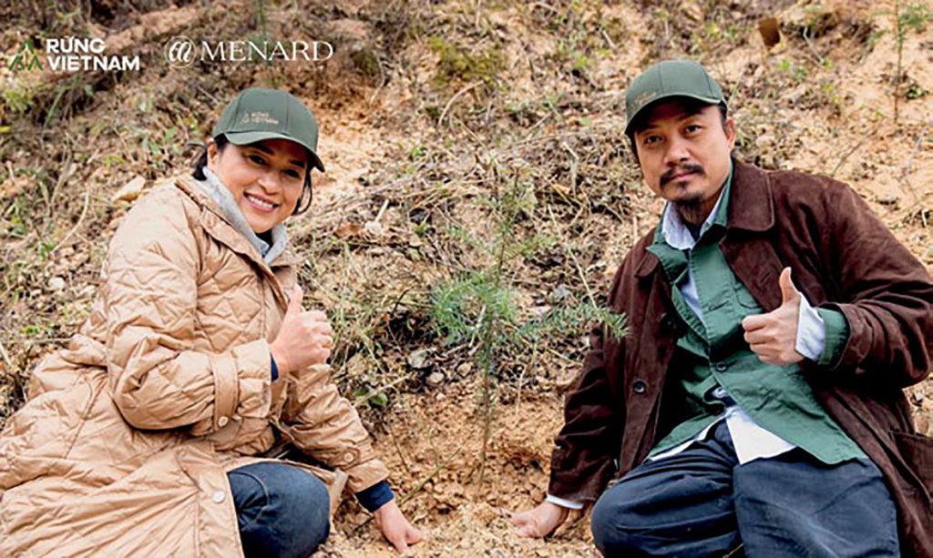 Chị Hương và đạo diễn Cao Trung HIếu
