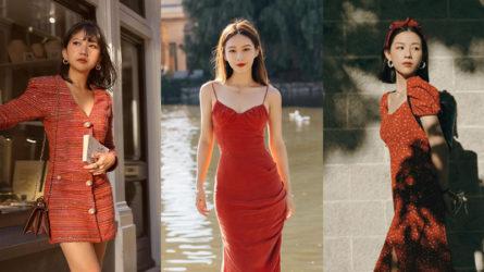 Chào năm mới may mắn với 4 kiểu đầm đỏ