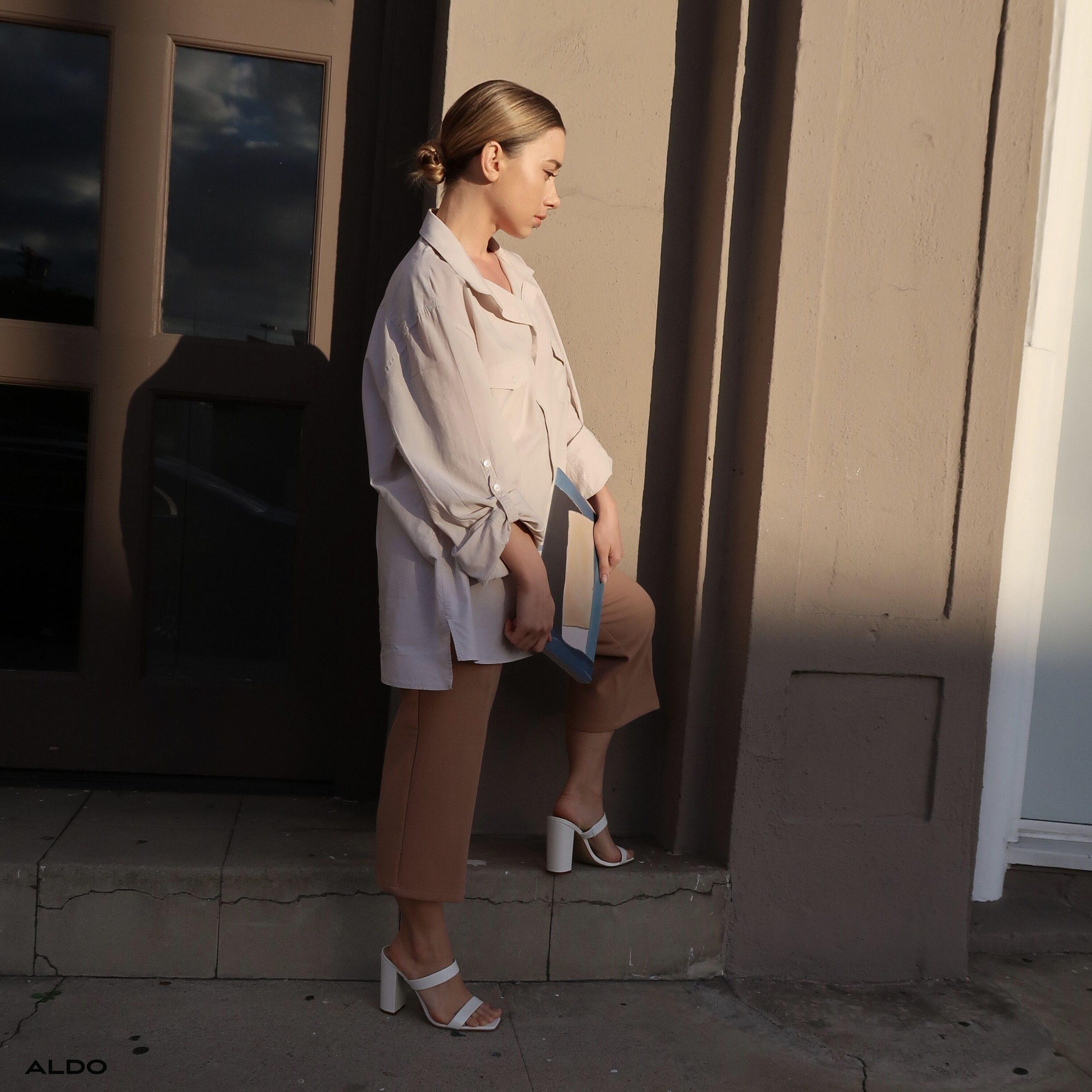 xu hướng thời trang hè 2021 giày mũi vuông