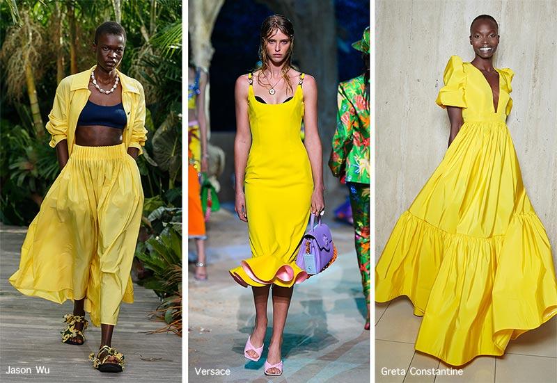 xu hướng thời trang hè 2021 màu vàng
