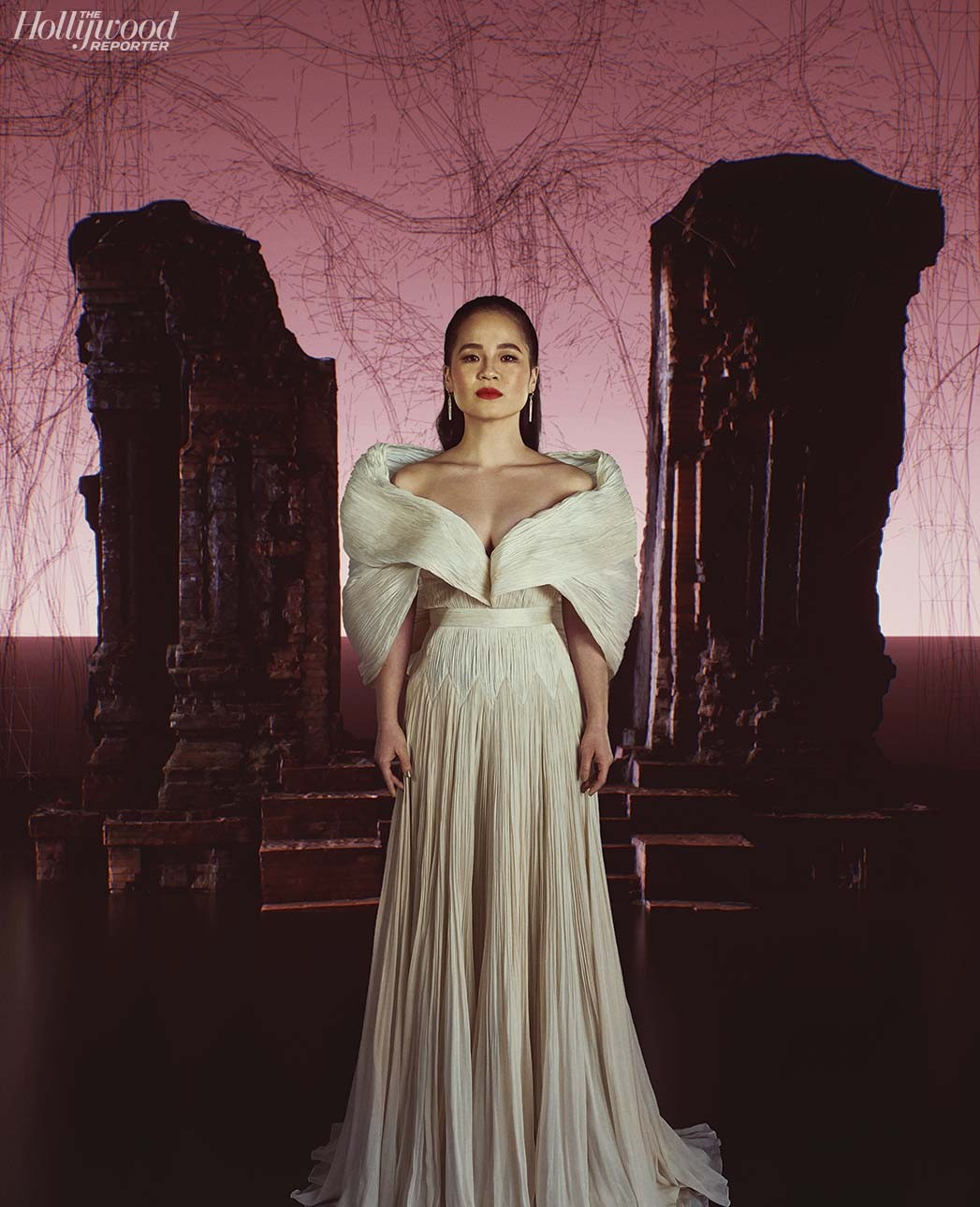 kelly marie trần đầm trắng