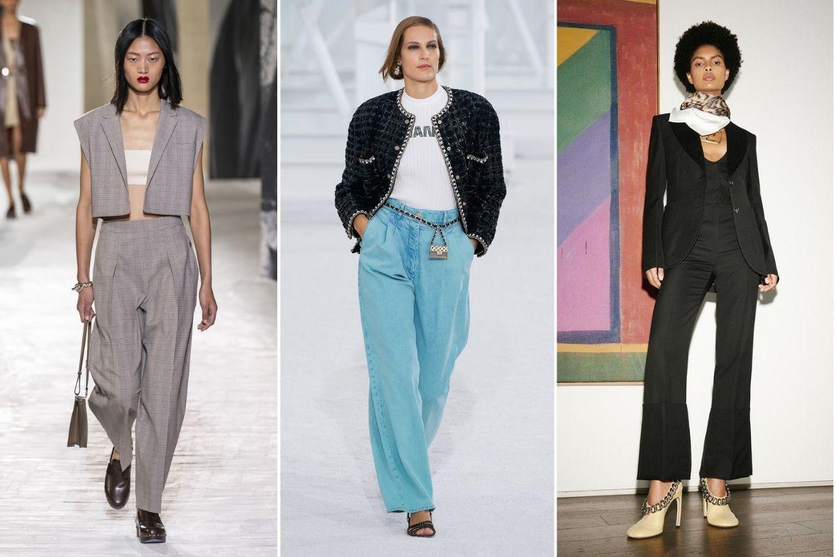 3 kiểu quần dài cơ bản trên sàn diễn xuân hè 2021