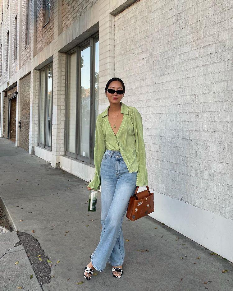quần dài jean ống rộng