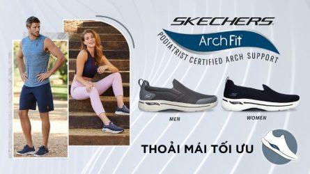 Thoải mái bay nhảy với dòng giày Gowalk Arch Fit mới toanh của Skechers