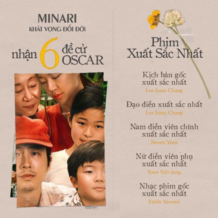 bộ phim mới nhất vừa nhận 6 đề cử oscar minari