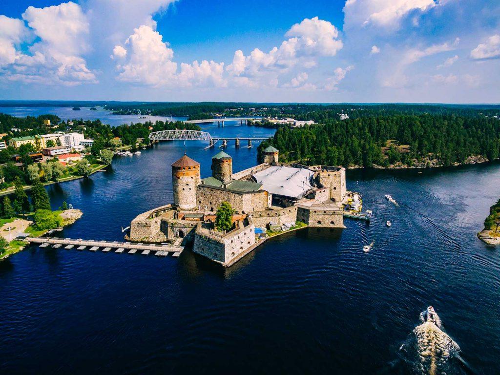 hồ nước nổi tiếng Saimaa của quốc gia Châu Âu Phần Lan