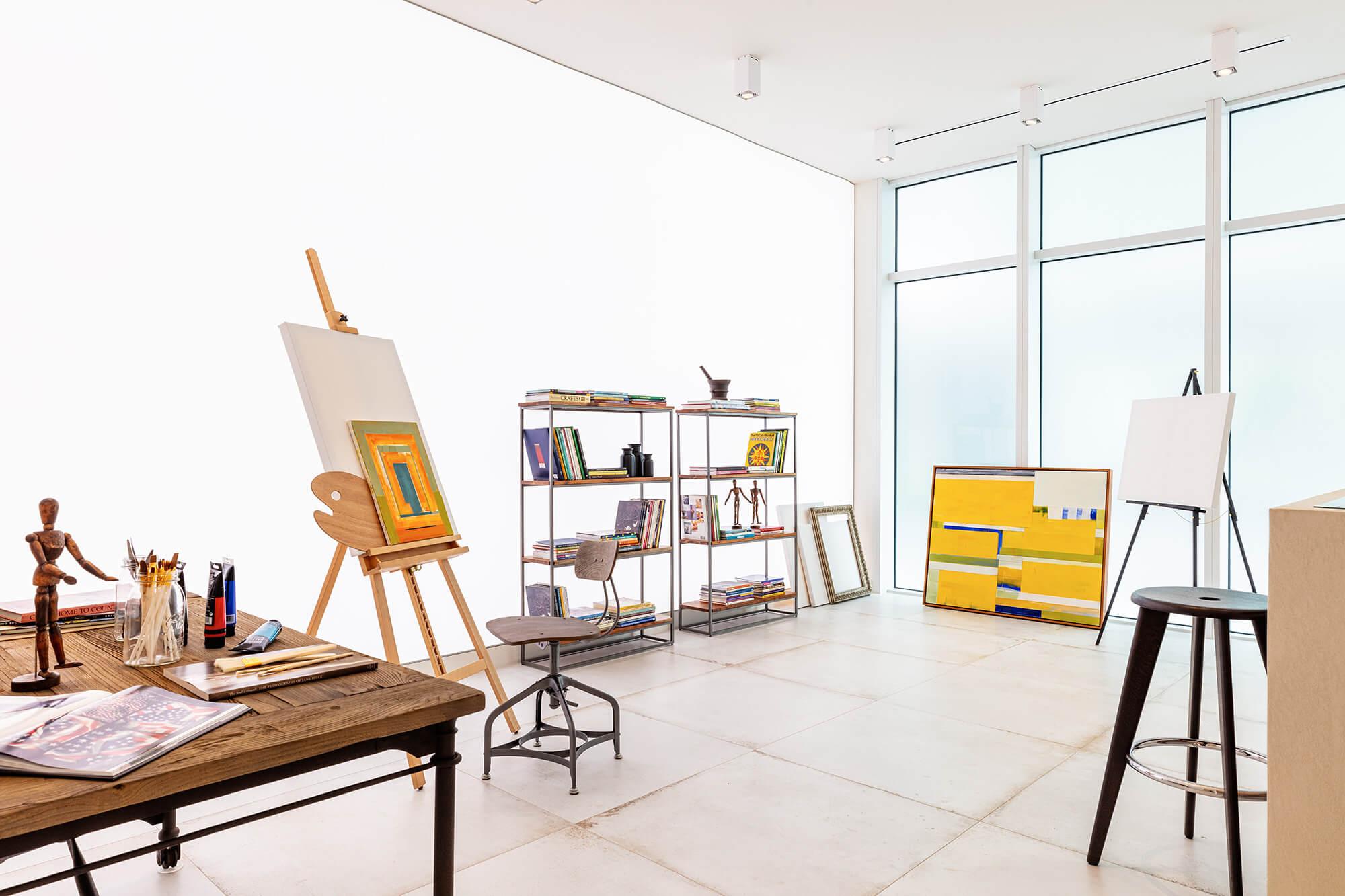 căn hộ hạng sang có phòng trưng bày nghệ thuật riêng