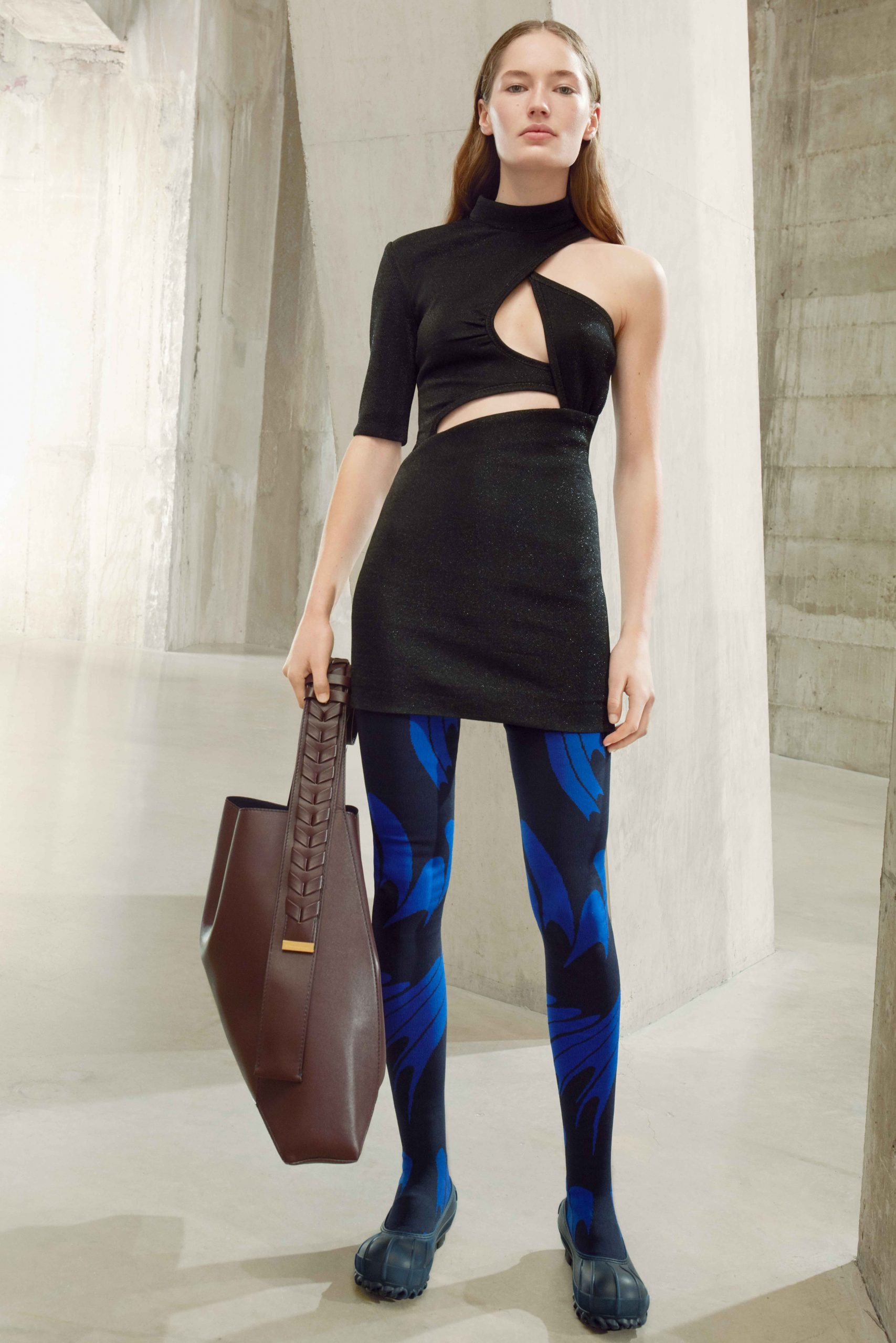 stella mccartney áo cut out phối quần legging