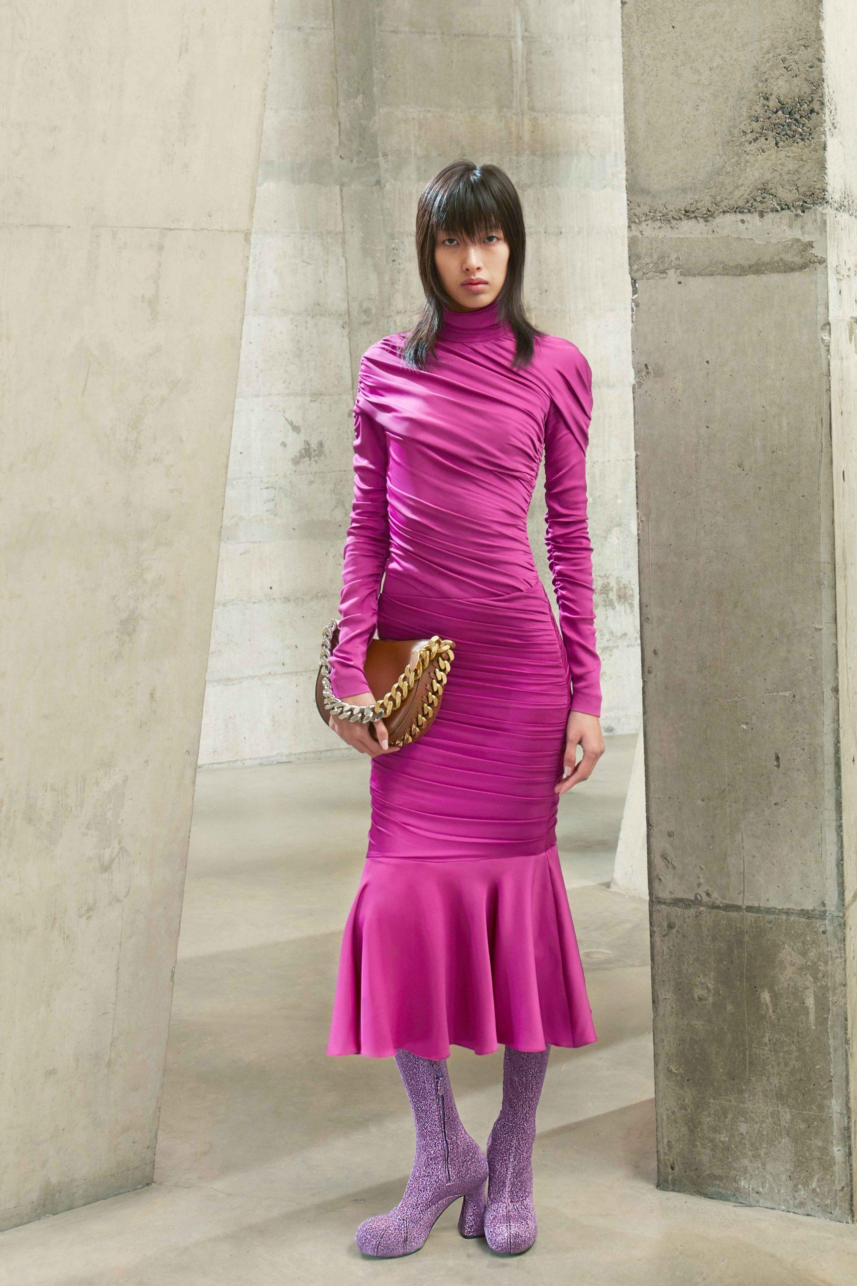 stella mccartney đầm ôm màu hồng