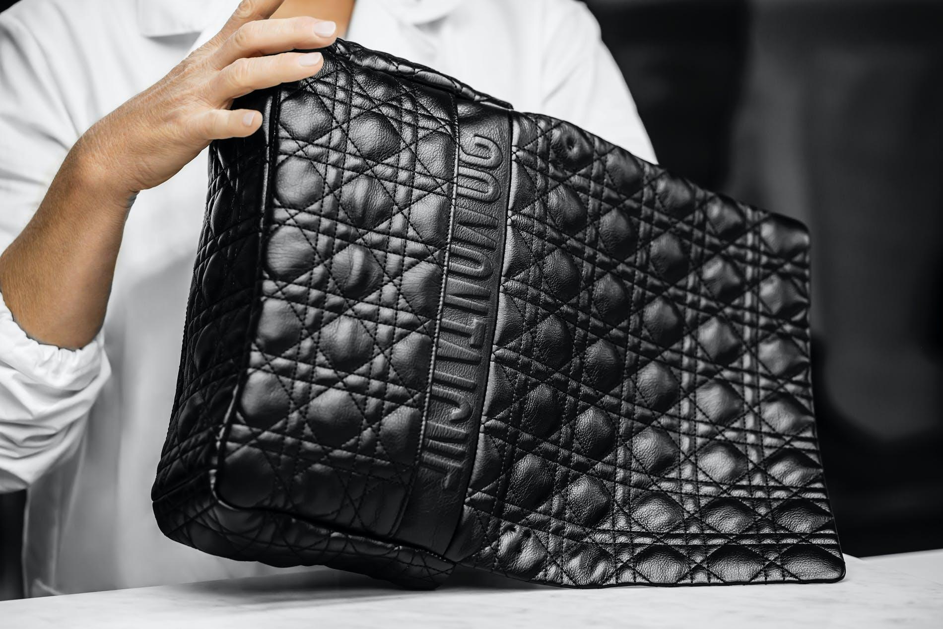 DIOR caro bag back details