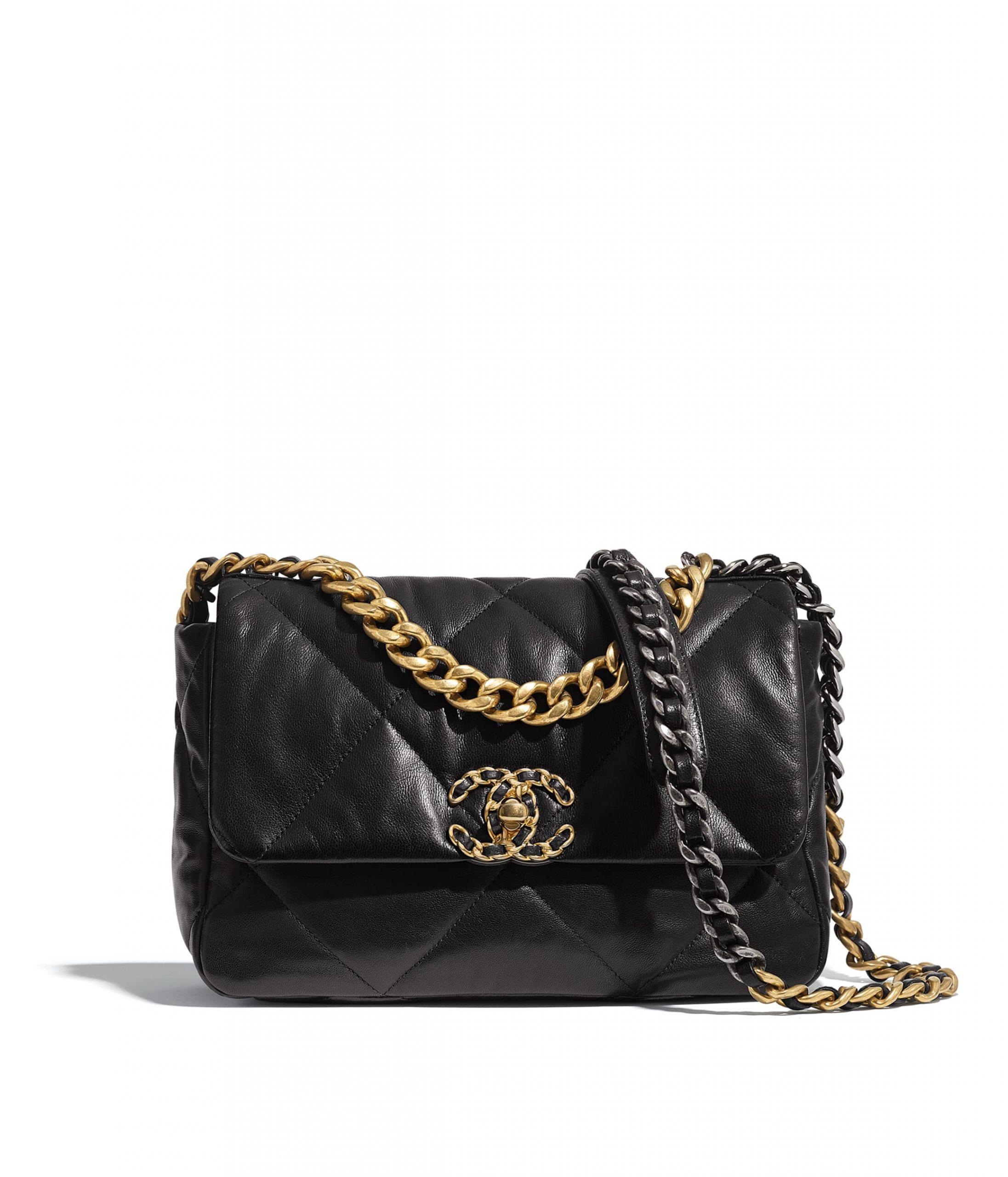 chanel 19 bag in black
