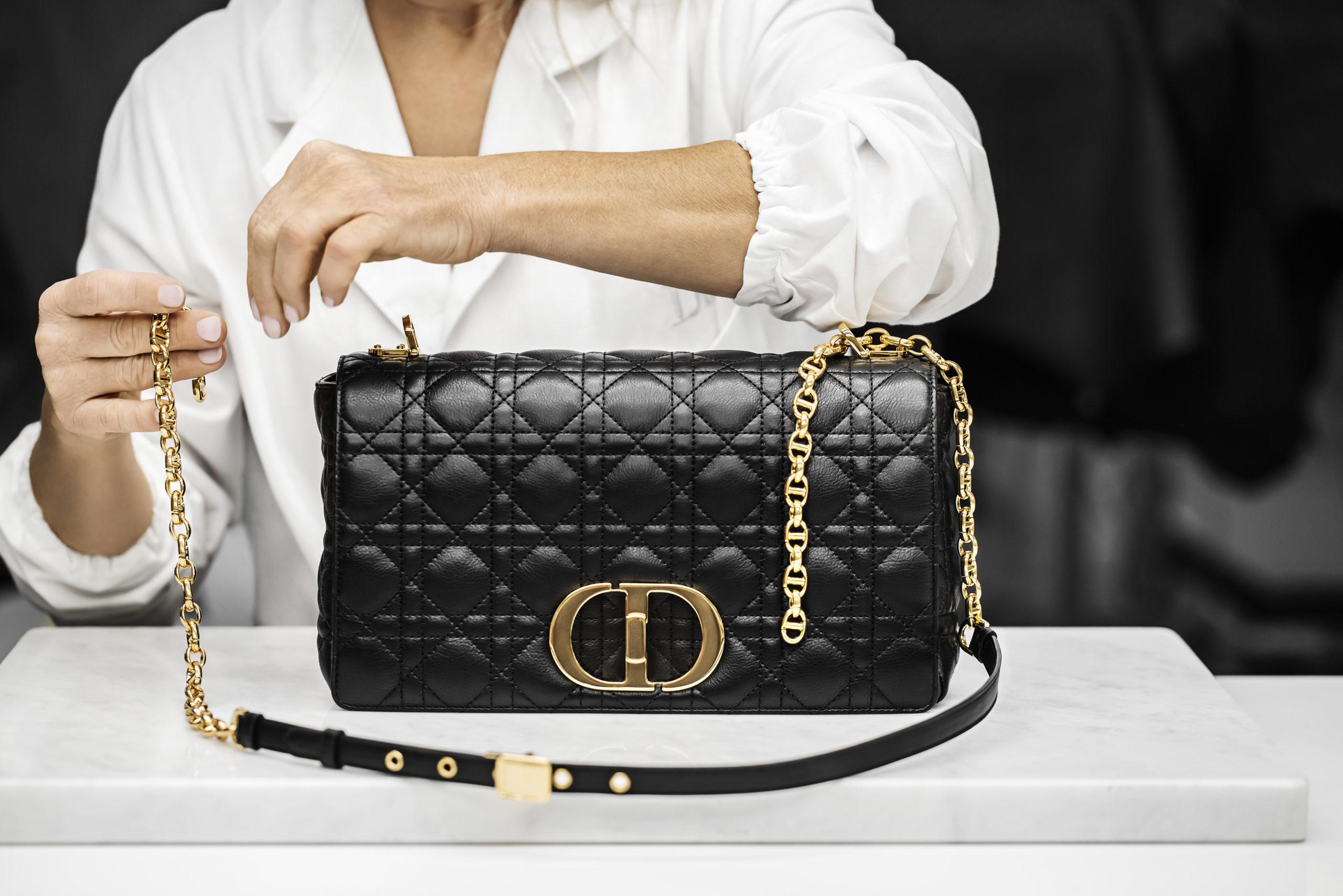 dior caro bag in black