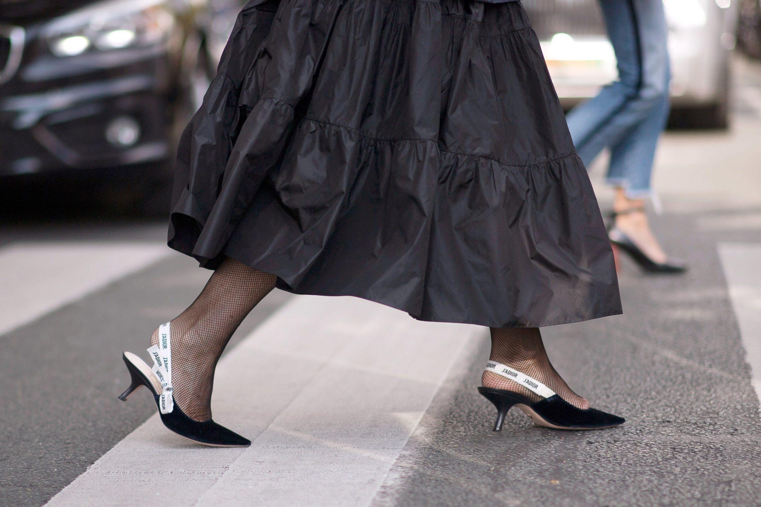 Giày cao gót kitten heels dior