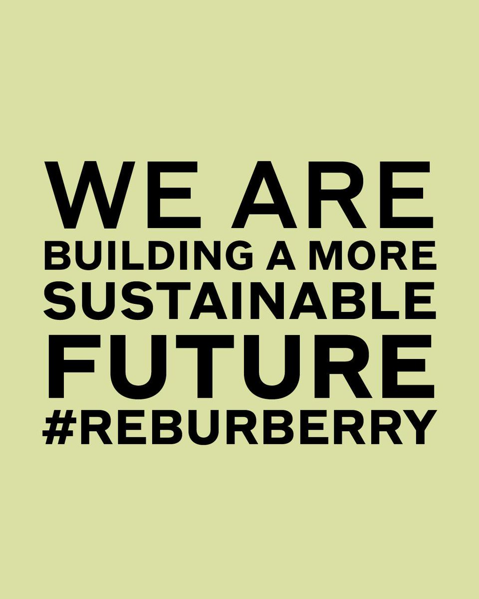ReBurberry Sustainable Fashion Future