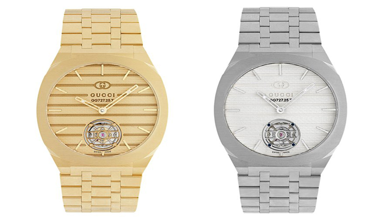 gucci watch G25 in gold and platinum