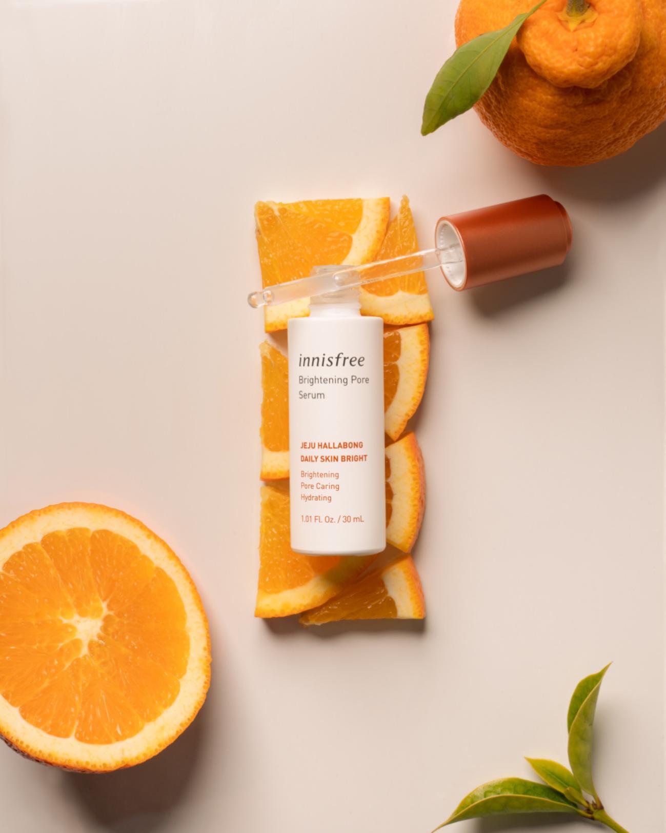 innisfree Brightening Pore Serum cho quy trình chăm sóc da đơn giản