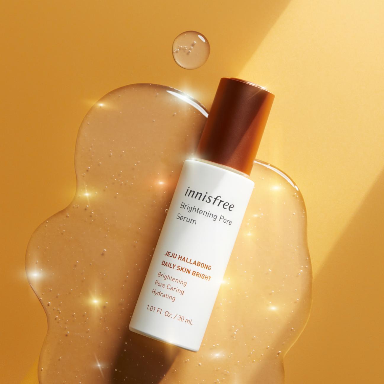 Thu gọn quy trình dưỡng da với innisfree Brightening Pore Serum