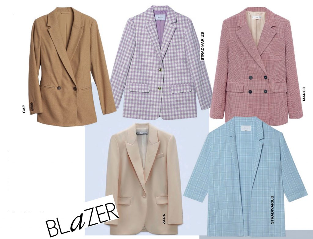 công sở phối với áo blazer