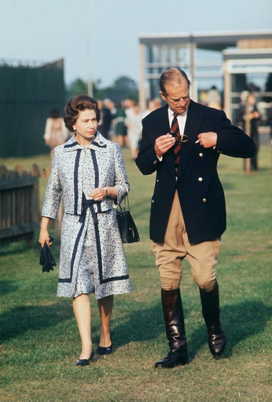 Prince Philip and the Queen at Guards Polo Clup in windsor (Photo by Tim Graham)