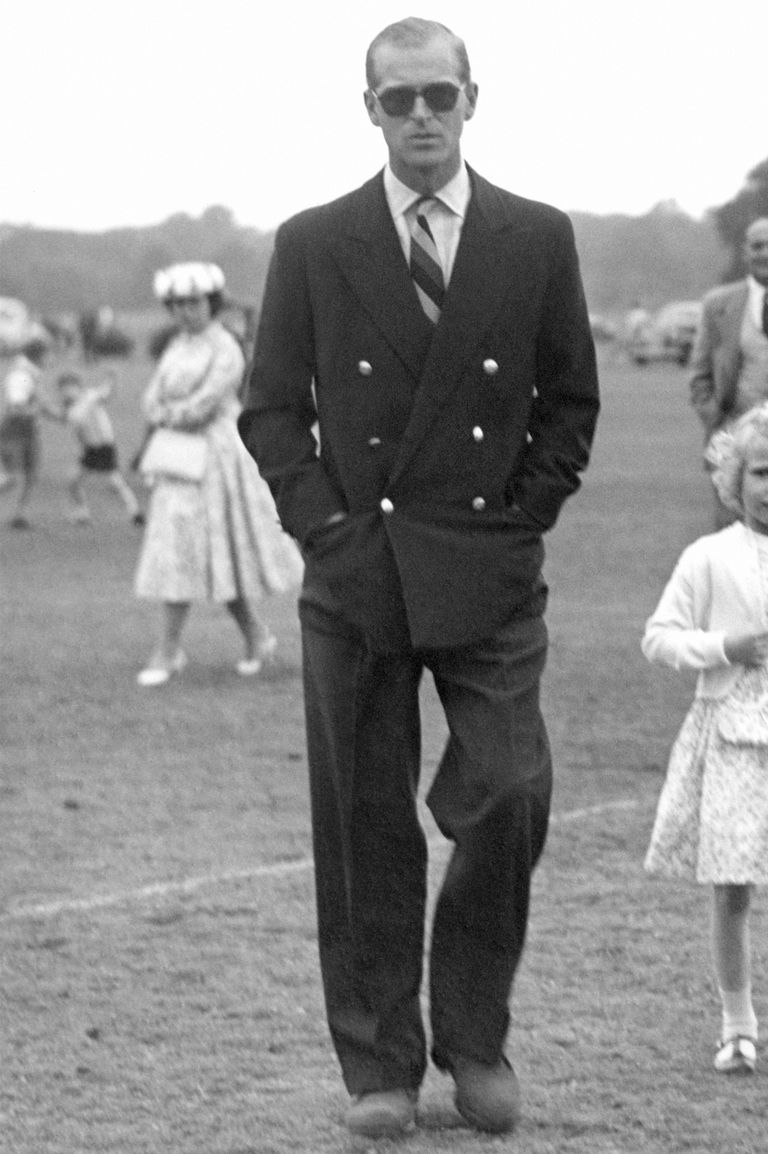 Prince Philip at a polo match in 1956 (Getty Images)