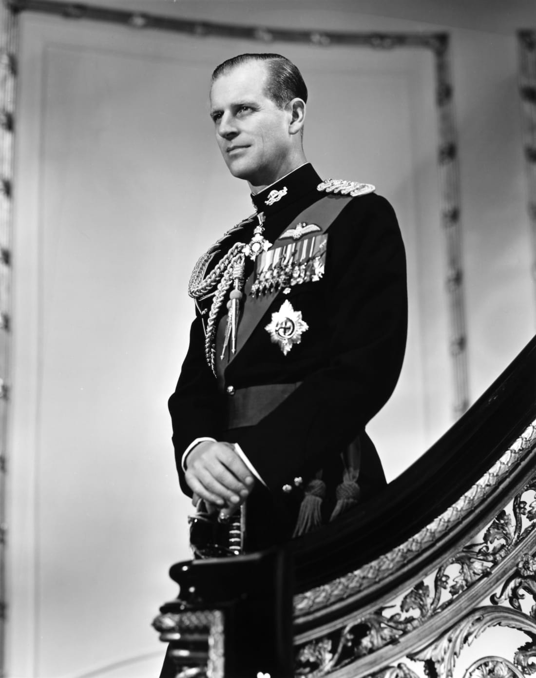 Prince Philip for a portrait in Buckingham Palace in 1958 (Photo by Michael Ochs)