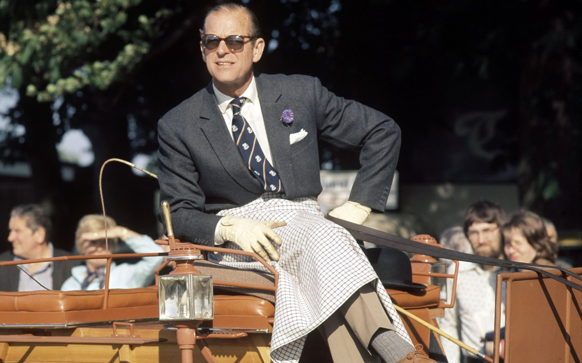 prince philip watch the windsor horse trials in 1976