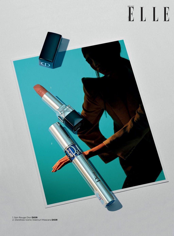 trang điểm với son cam đất Dior