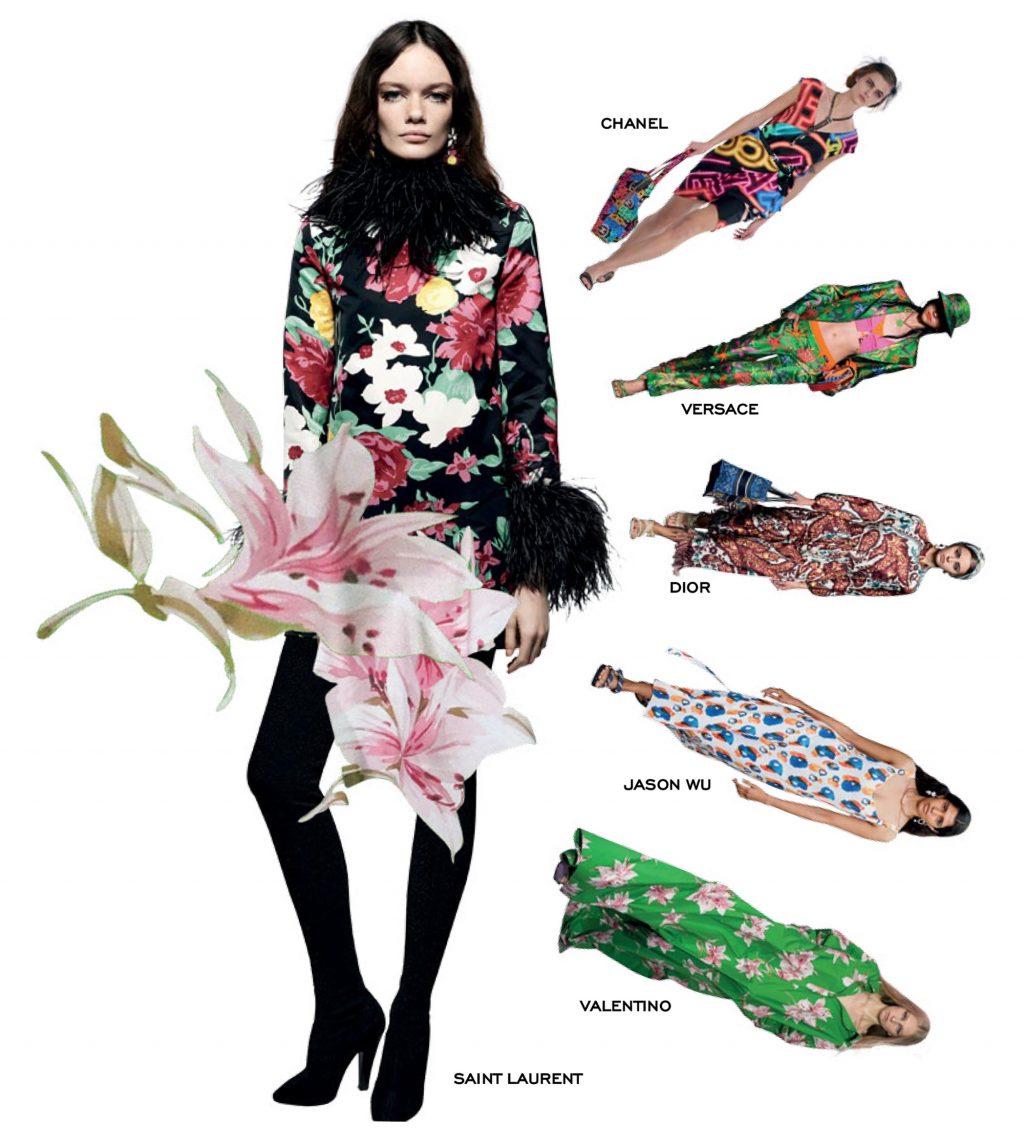 thời trang hoạ tiết hoa