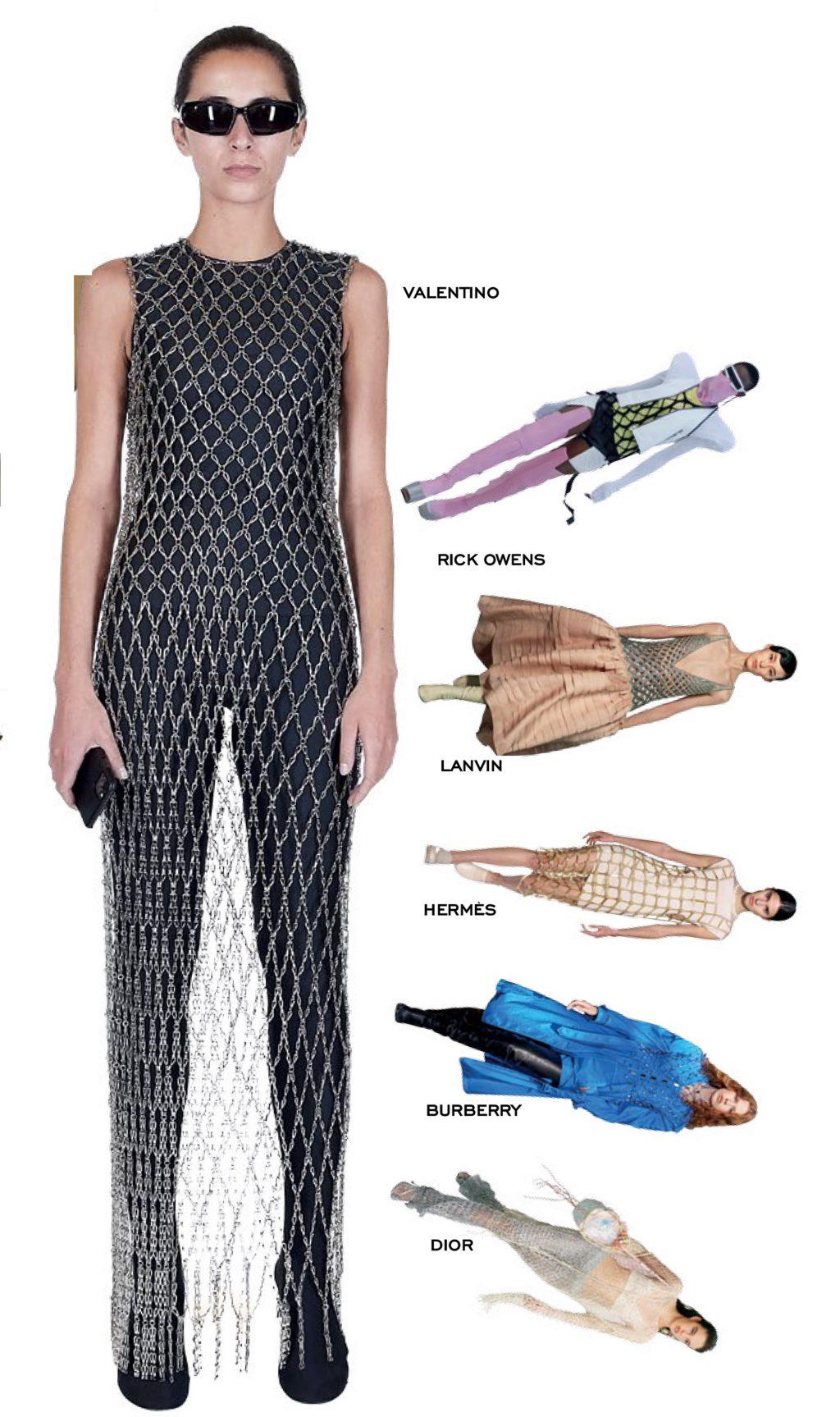 thời trang trang phục lưới