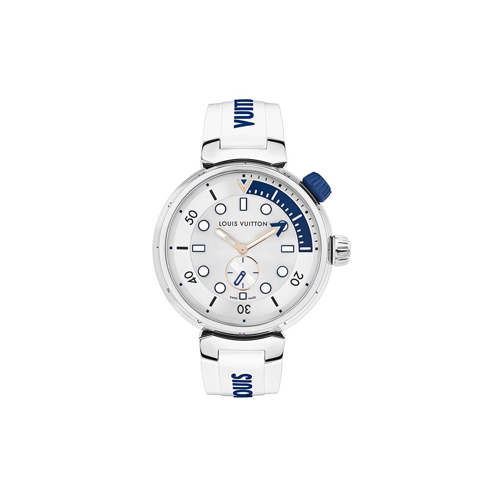 Đồng hồ Louis Vuitton Tambour Street Diver Pacific White