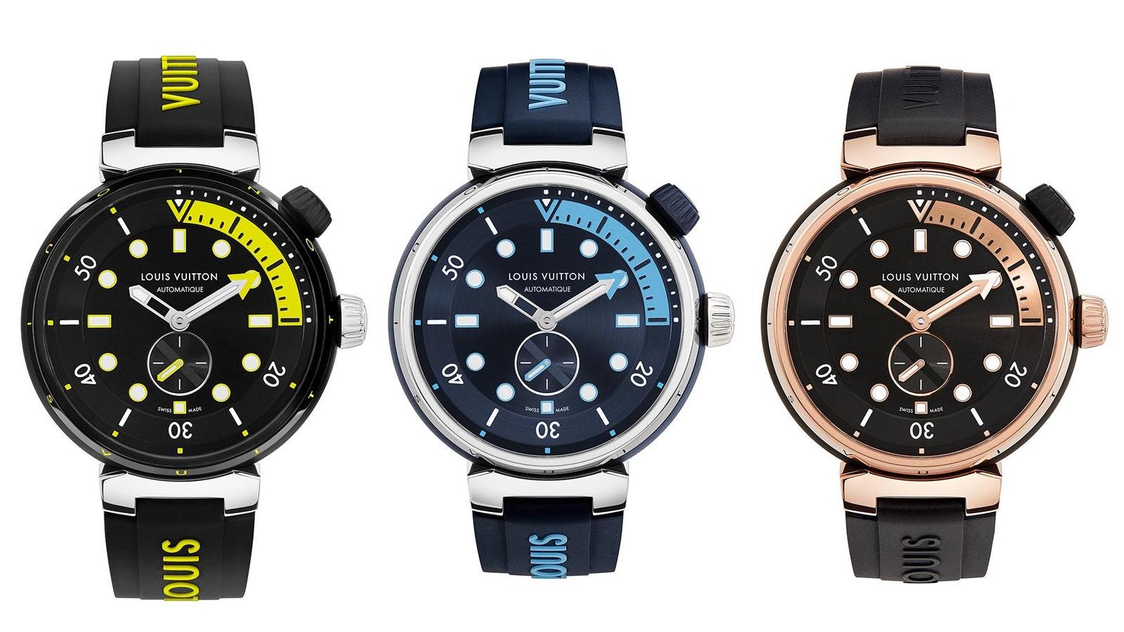 Đồng hồ Louis Vuitton Tambour Street Diver trong ba phối màu mới