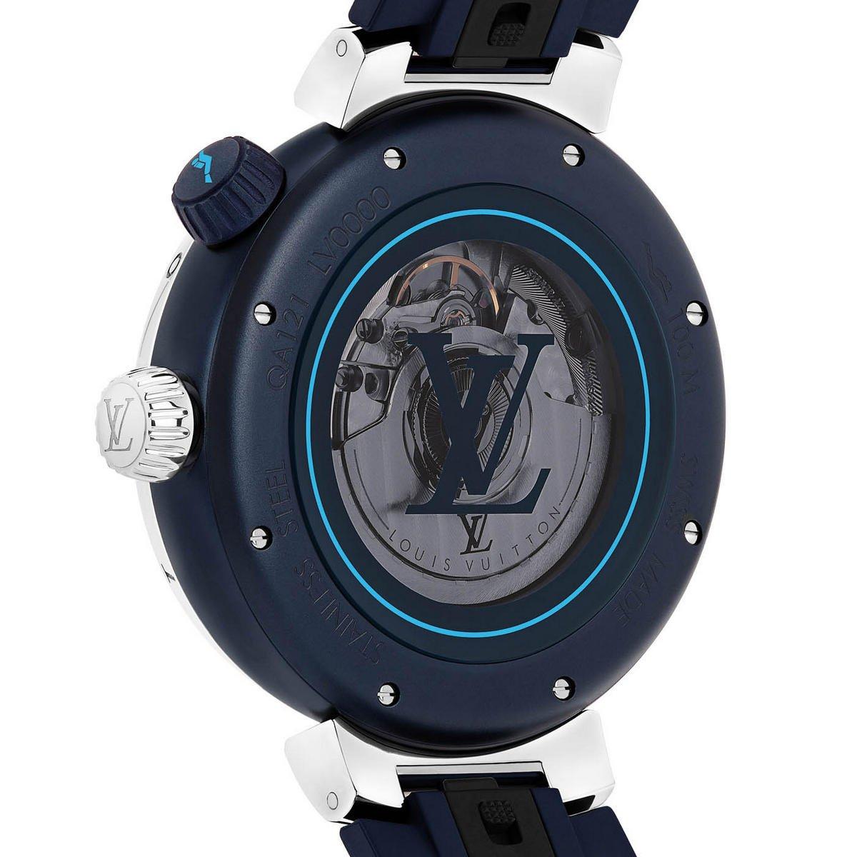 Mặt sau đồng hồ Louis Vuitton Tambour Street Diver