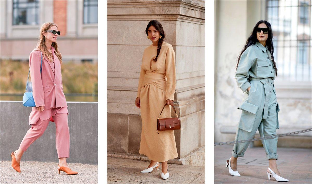 những đôi slingback sắc màu diện bởi các tạp chí editor