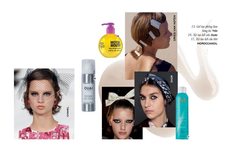 trang điểm với phụ kiện cho tóc