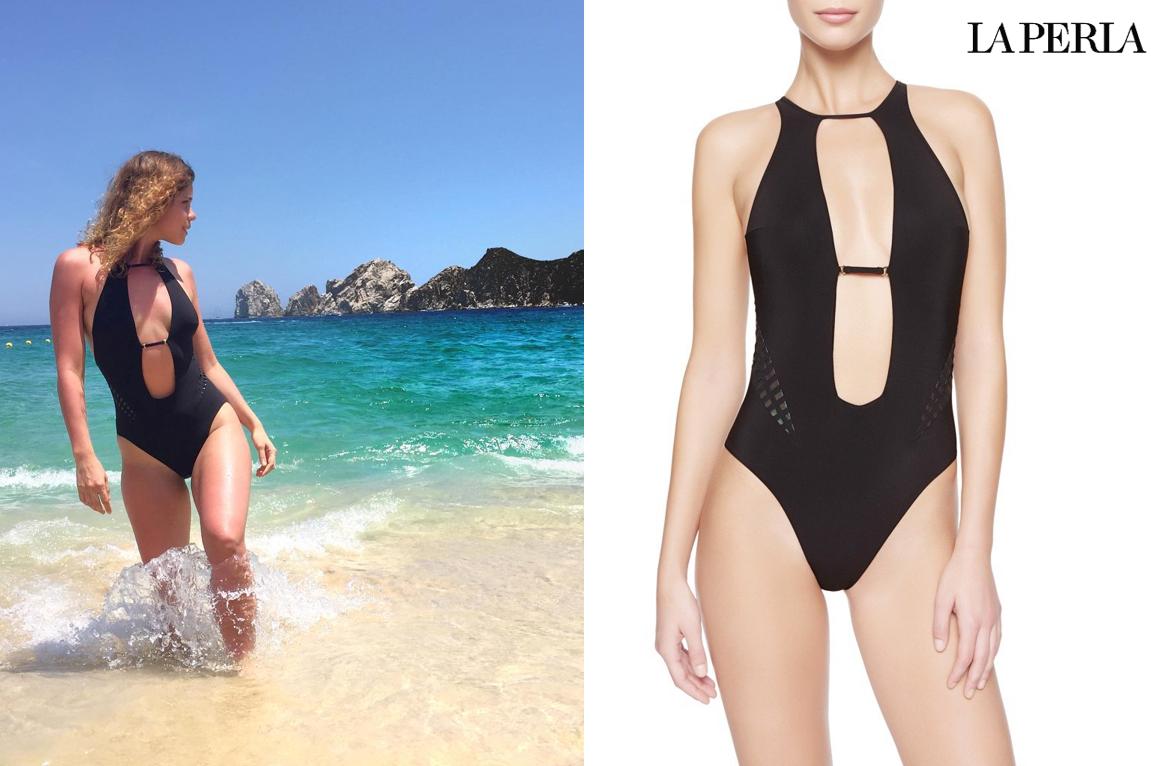 La Perla đồ bơi một mảnh Mirage màu đen thiết kế cut out