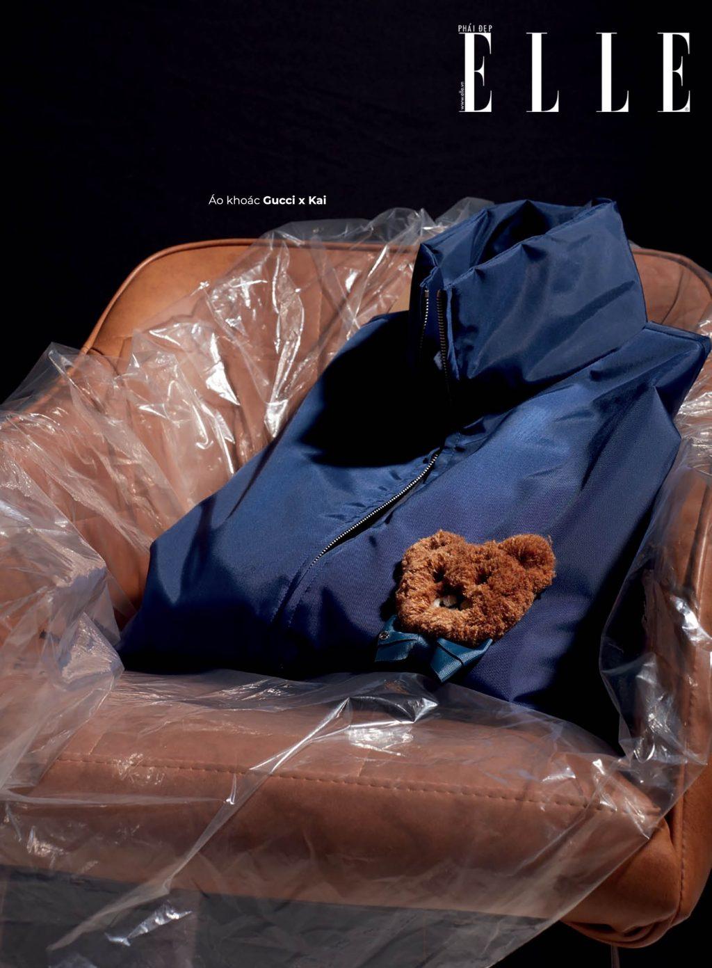 túi xách áo khoác Gucci kết hợp với Kai