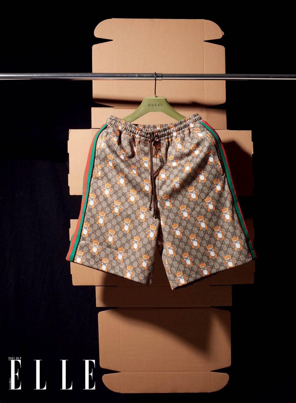 túi xách quần Gucci kết hợp với Kai