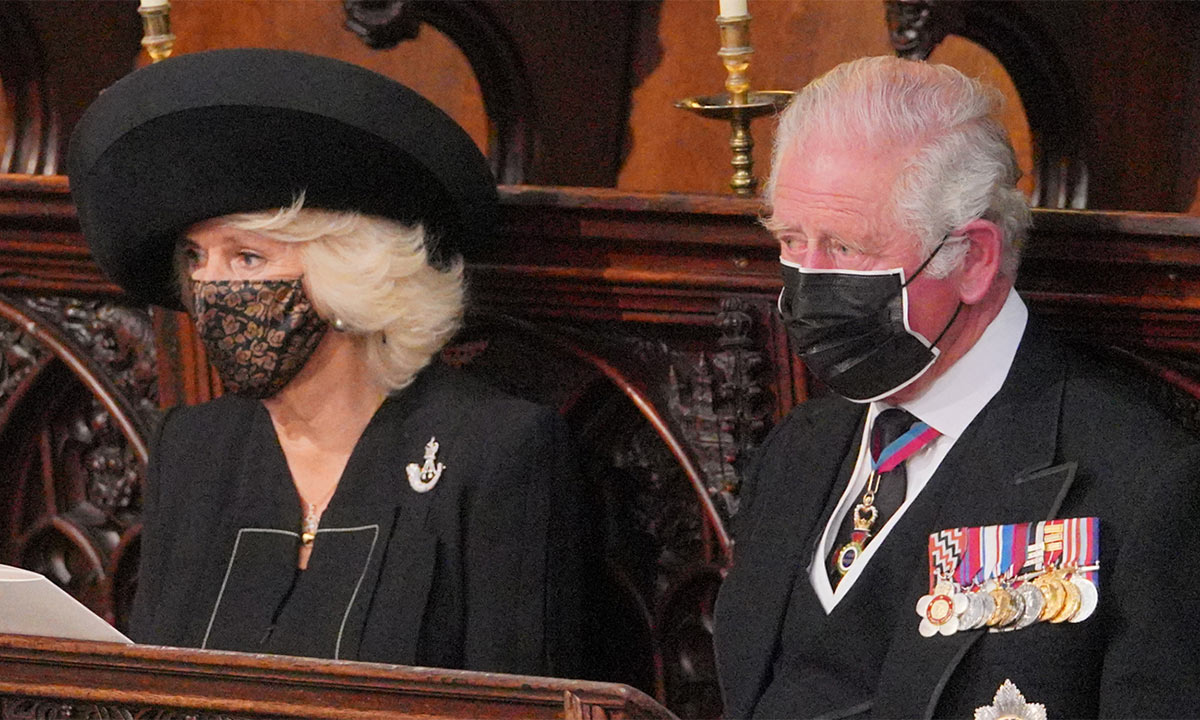 Nữ công tước Camilla và chồng thái tử Charles trong tang lễ hoàng thân Philip
