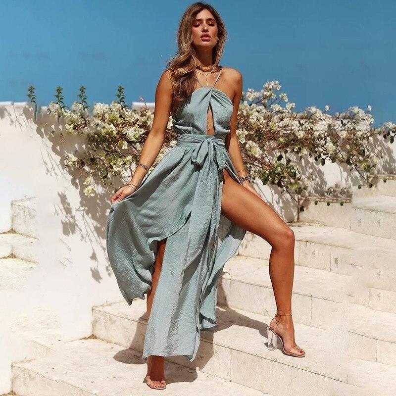Váy cổ yếm xanh ngọc