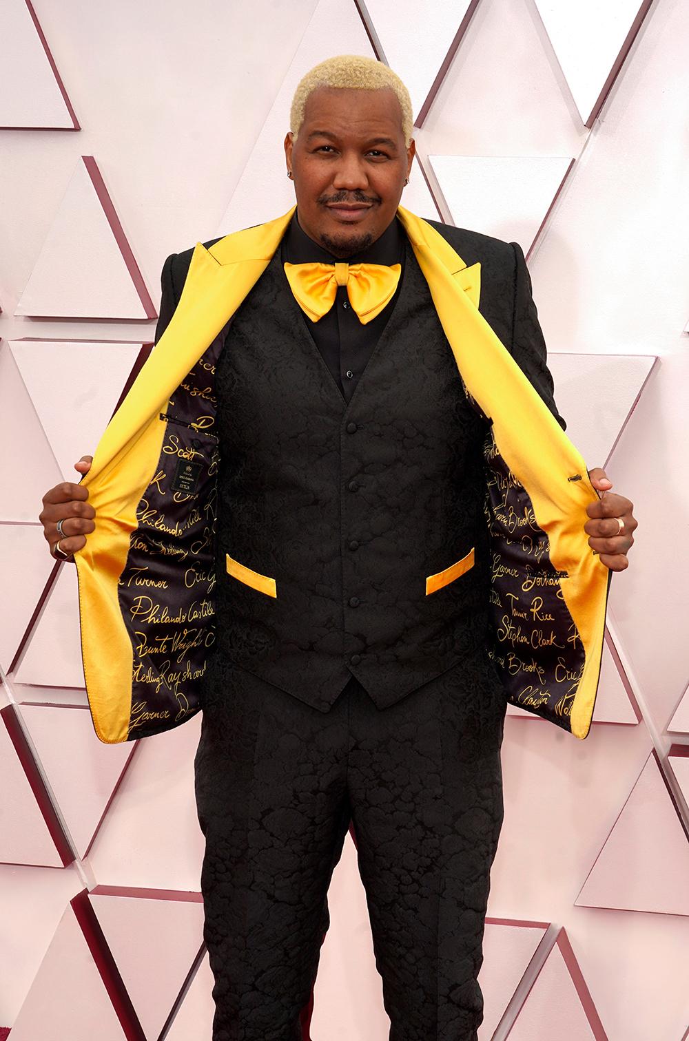 Travon Free trong trang phục suit Dolce Gabbana