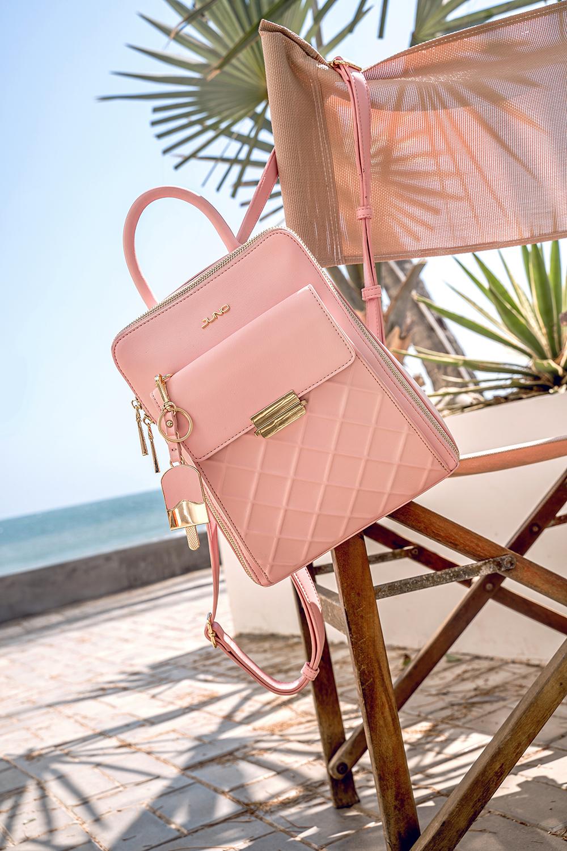 Balo hồng pastel Juno bãi biển phụ kiện hè