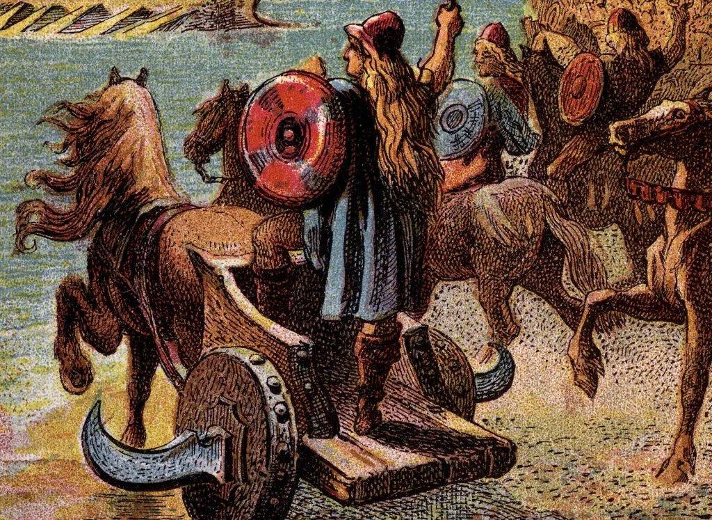 Tóc mullet - Người La Mã cổ đại trên xe ngựa, với mái tóc dài ở phía sau
