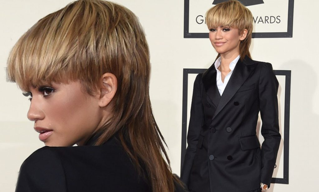 Zendaya tóc mullet