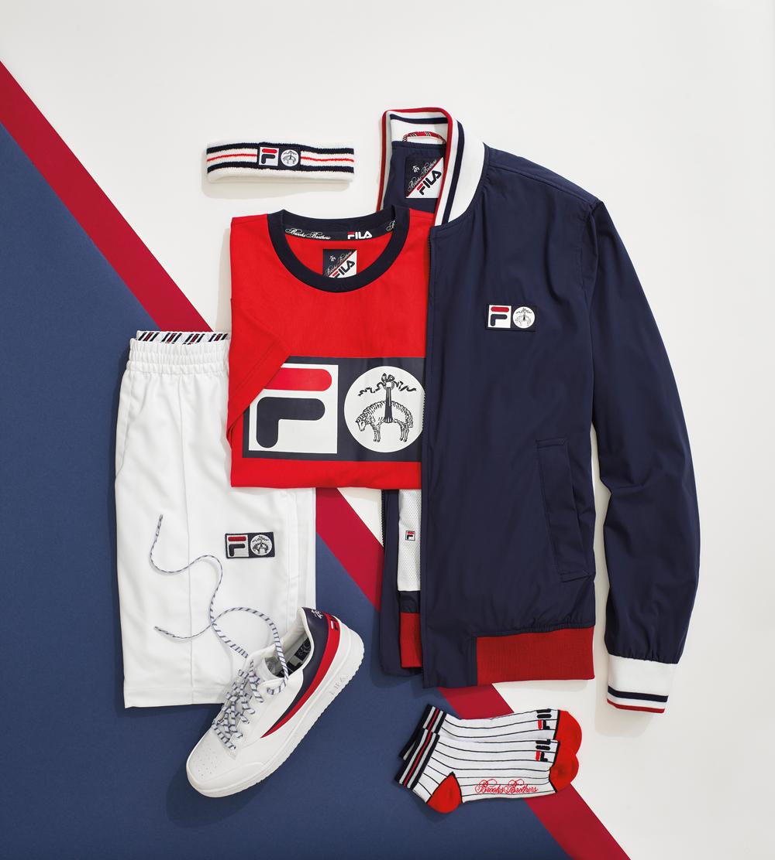 BST Brooks Brothers x Fila áo và giày