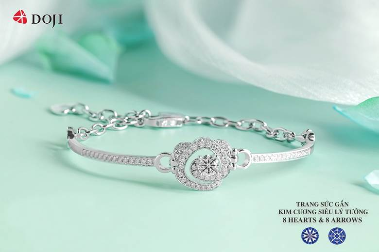 vòng tay kim cương Doji