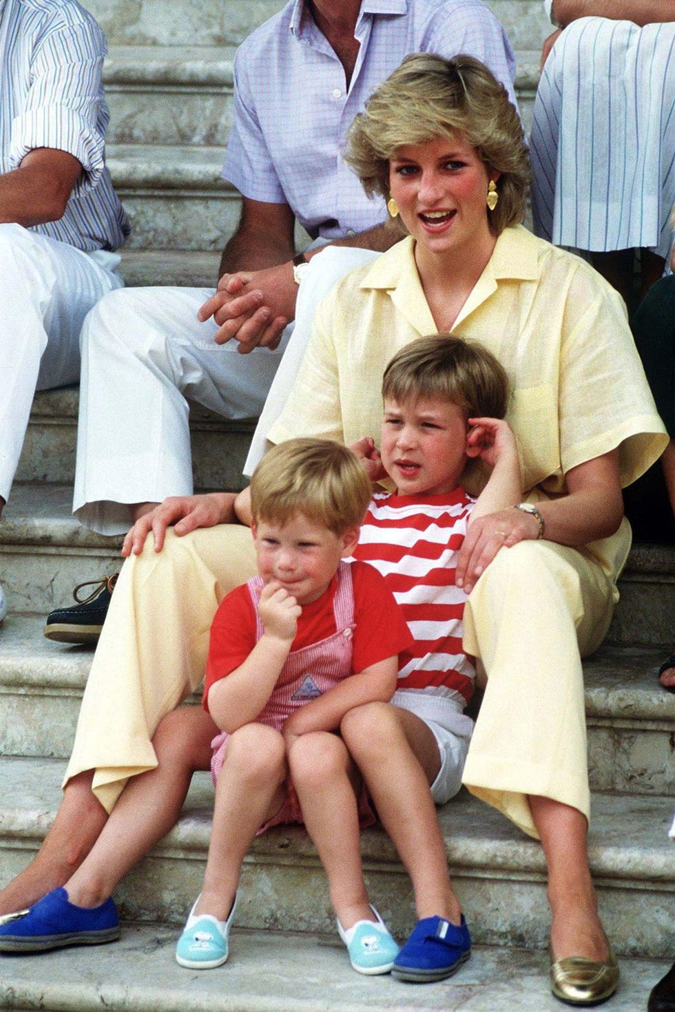 Princess Diana and her children during the period at the Spanish palace
